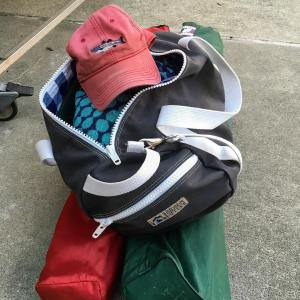 Packed and ready for swim team divisionals Perfect hat forhellip