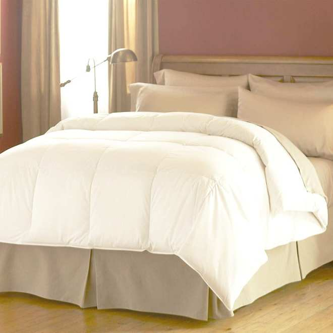 What goes into collecting the down or silk used for duvet fill? The story isn't pretty, but thankfully vegan bedding is a readily available option - like this microgel duvet by Spring Air.