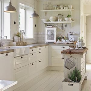 A Farmhouse home decor style kitchen.