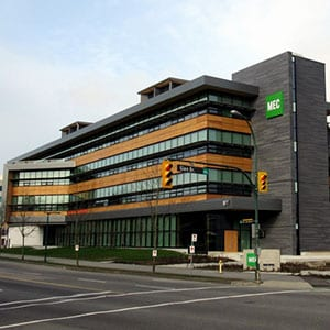 Canadian sustainable building MEC Head Office in Vancouver, British Columbia.