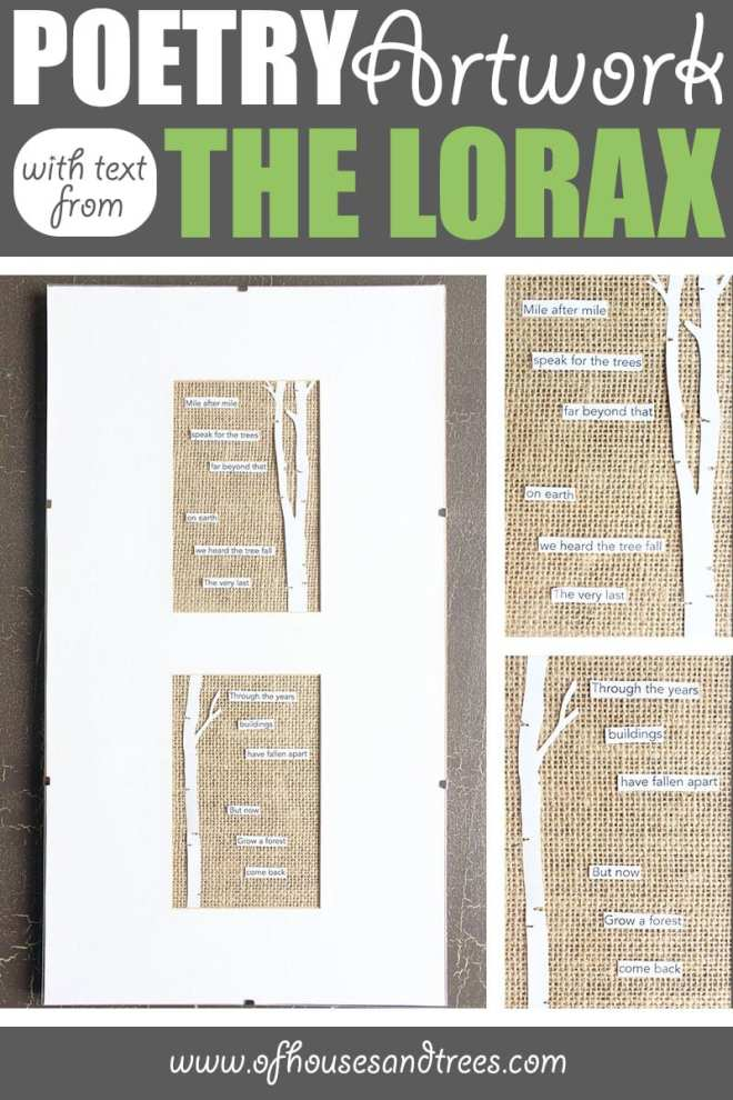 Poetry Art | Love literature as much as you love making creative things? Then this poetry art project - featuring a poem using text from The Lorax - is for you!