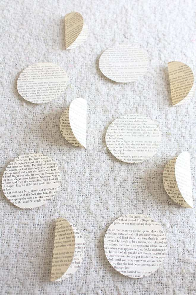 How to make a paper orb from old book pages. Step 3: Once you're done tracing, cut the circles out and begin folding them in half, keeping the side of the page you want facing out on the inside. (Meaning you won't see it after you've folded the circle.)