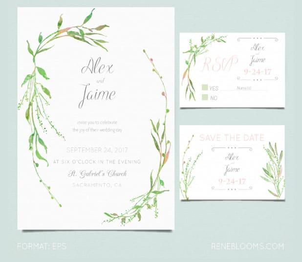 Formato de invitación de boda para imprimir gratis y editable