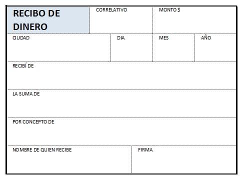 √ Recibo de dinero en Excel, formato para imprimir en hoja carta