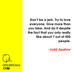 Judd Apatow Speaks: Two Minutes of Rambling Wisdom