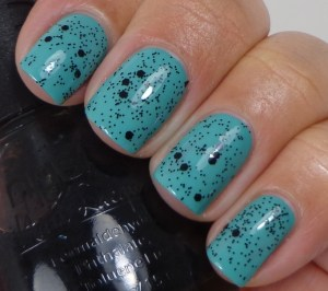Nubar  Black Polka Dot over Morgan Taylor Lost In Paradise 1