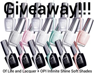 Giveaway – OPI Infinite Shine Soft Shades