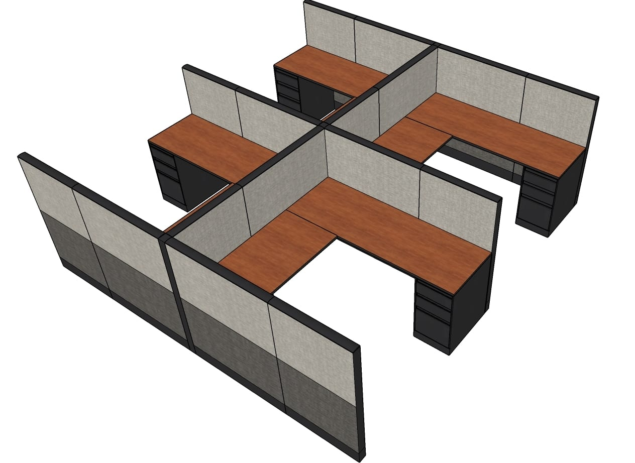 Workstation Furniture Refurbished Steelcase Answer 6x6 Workstation