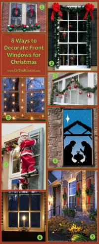 8 Ways to Decorate Front Windows for Christmas