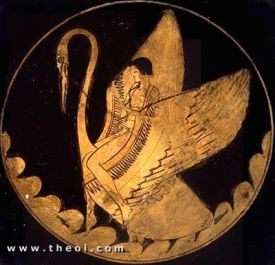 Hyakinthos on Apollon's swan