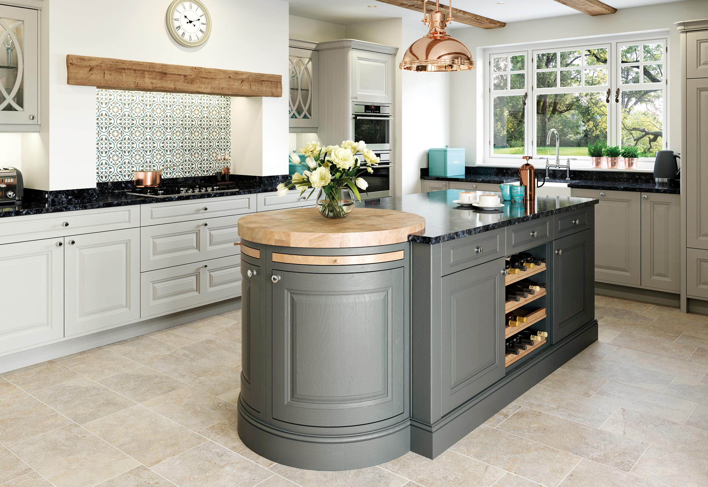 Matte Stone And Gun Metal Grey Country Style Kitchen Og Kitchens