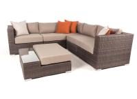 Liana 6 piece modular patio furniture sectional set   Ogni