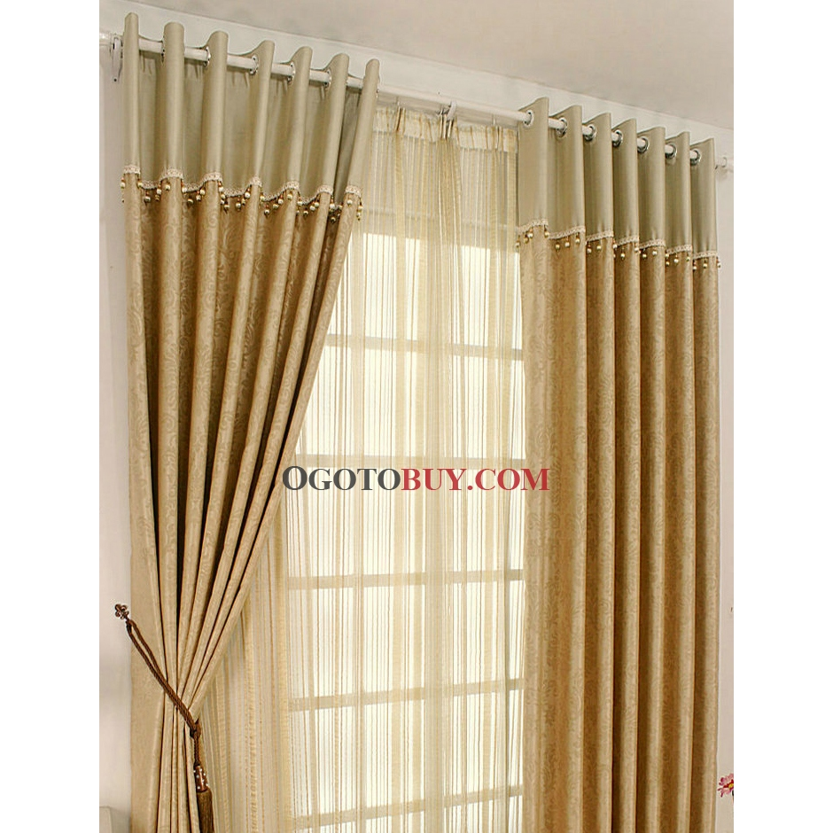 Where Can I Buy Cheap Curtains Modern Champagne Blackout Curtains With Floral Printed Buy