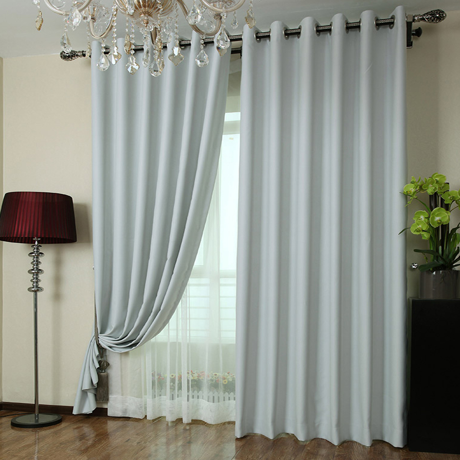 Cheap Stylish Curtains Stylish Light Grey Polyester Made Blackout Curtains Buy As Photo