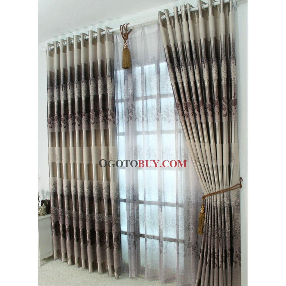 Cheap Stylish Curtains Stylish And Fancy Energy Saving Curtains Of Brown Printed Patterns