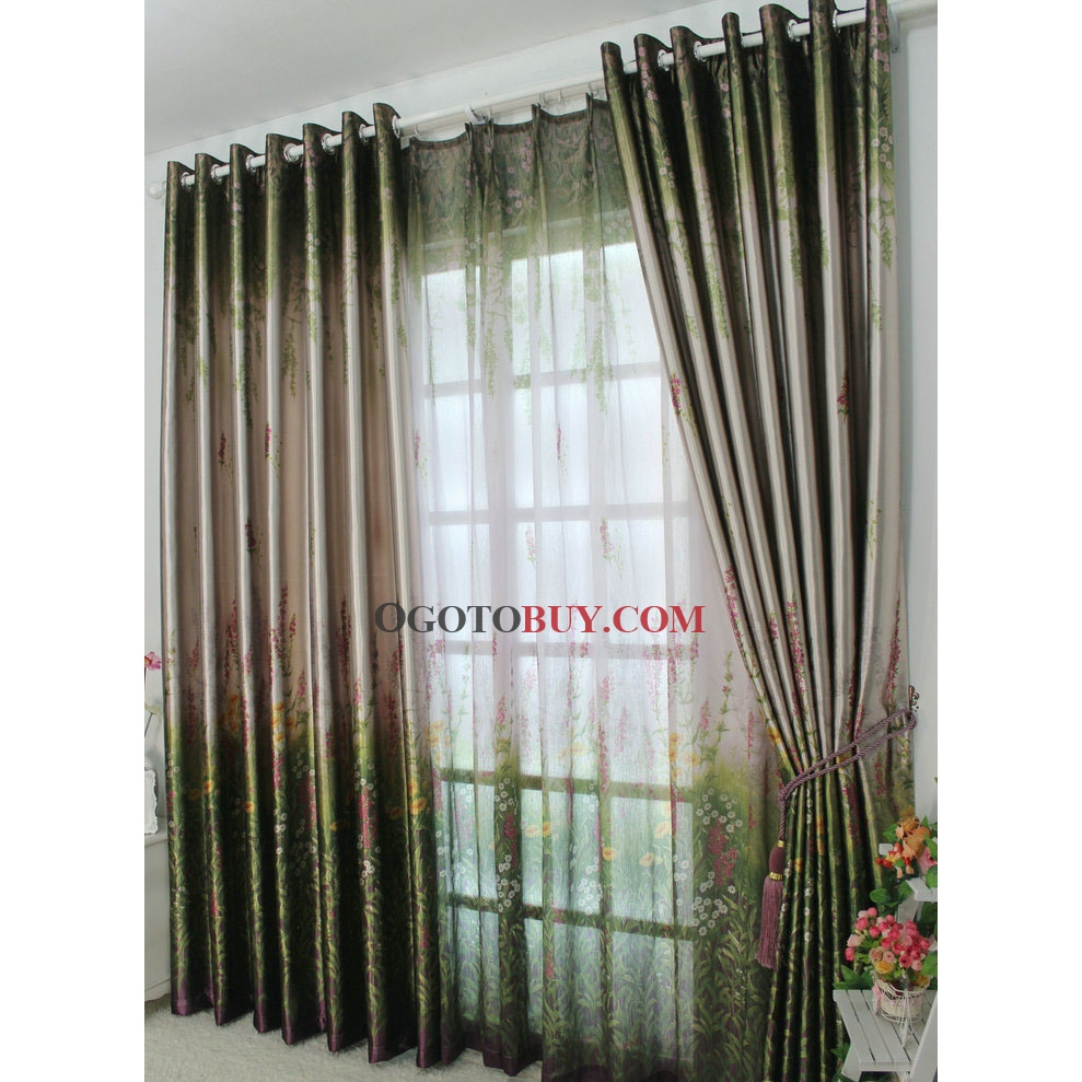 Where Can I Buy Cheap Curtains Summer Feeling Green Printed Eco Friendly Curtains Buy Curtains