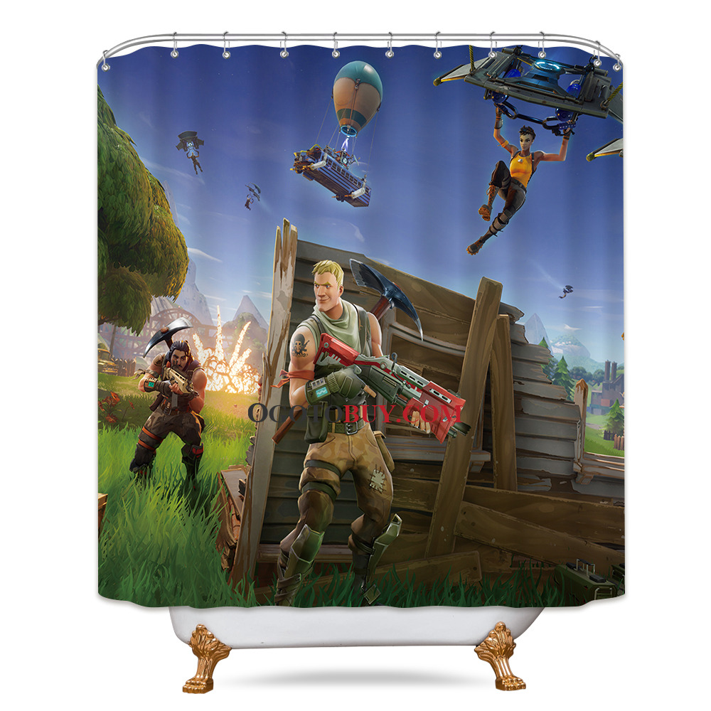 Buy Shower Curtains Online Fortnite Bathroom Shower Curtain Outdoor Background Game Home