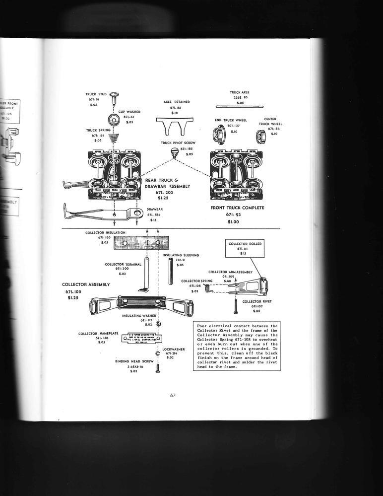 Lionel 671 Motor Repair Parts? O Gauge Railroading On Line Forum
