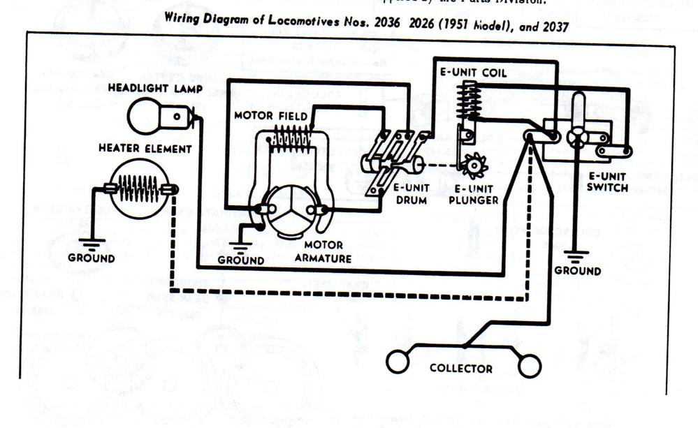 1960 lionel train motor wiring diagram