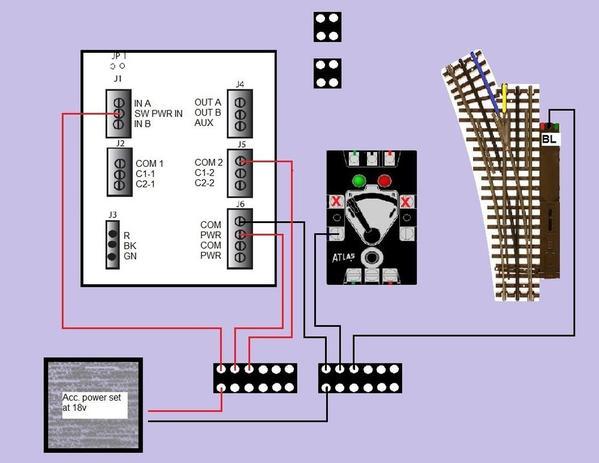 Wiring an Atlas 6924 N-D Board w/ #57 Switch Control O Gauge