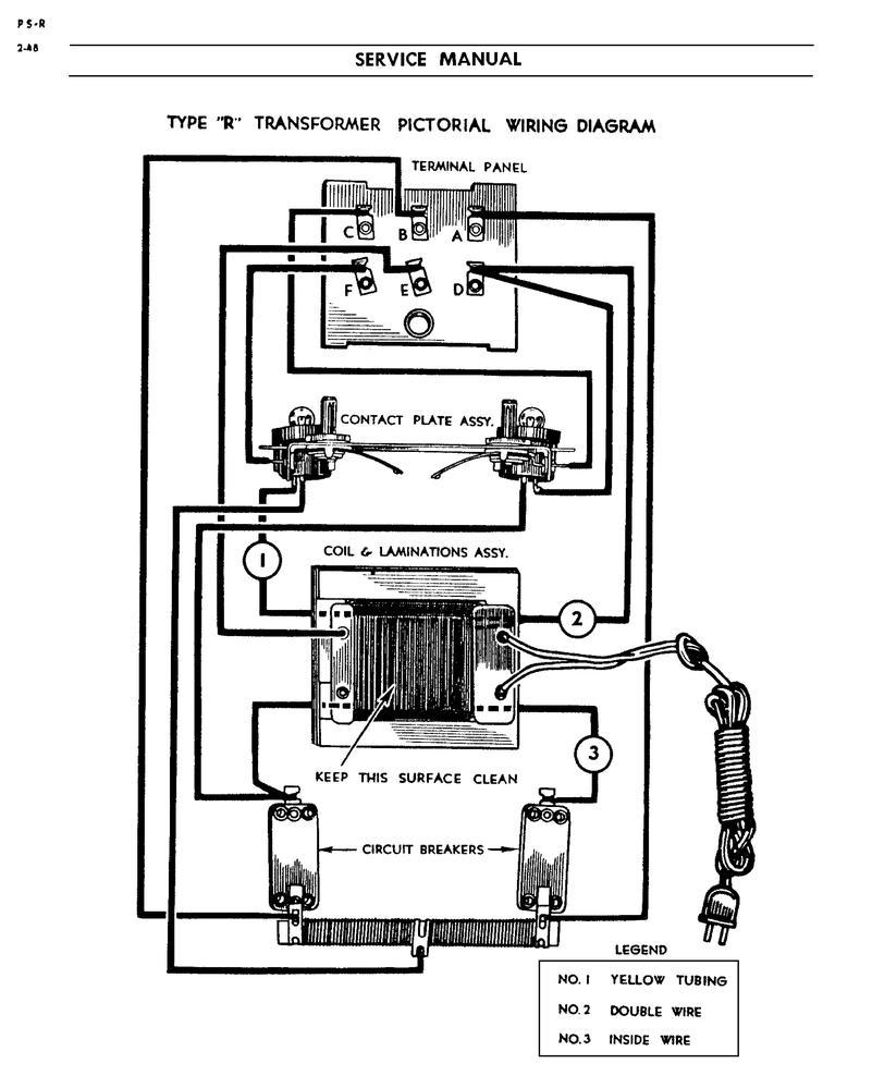wiring diagram 1033 lionel transformer