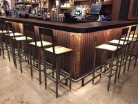 Corrugated Metal Bar Front - Rug Designs