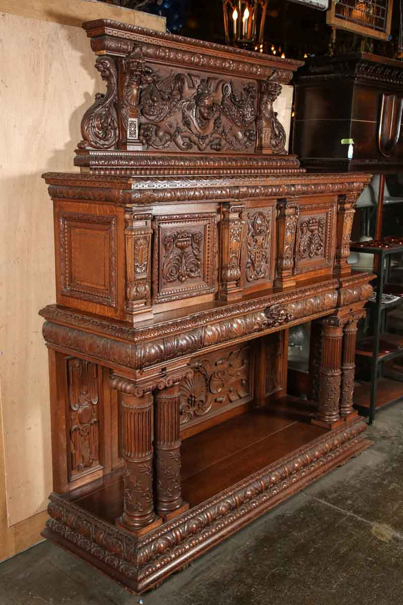 Living Room Table Wood Italian Renaissance Carved Sideboard | Olde Good Things