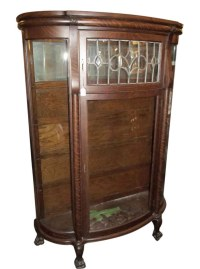 Antique China Cabinet with Leaded Glass   Olde Good Things
