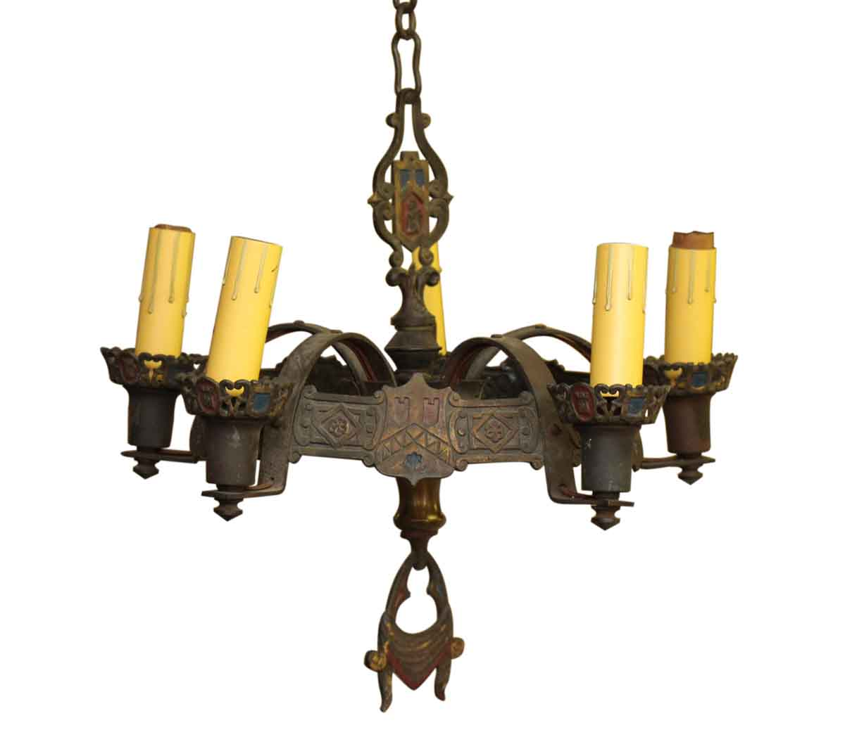 Wrought Iron Rectangular Chandelier Five Light Spanish Revival Wrought Iron Chandelier Olde