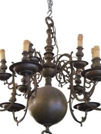 Twelve Arm Bronze Colonial Style Chandelier | Olde Good Things
