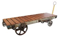 Industrial Vintage Factory Cart Coffee Table   Olde Good ...