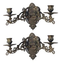 Art Nouveau Brass Sconces with Adjustable Arms | Olde Good ...