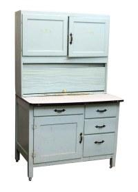 Light Blue Painted Hoosier Cabinet | Olde Good Things