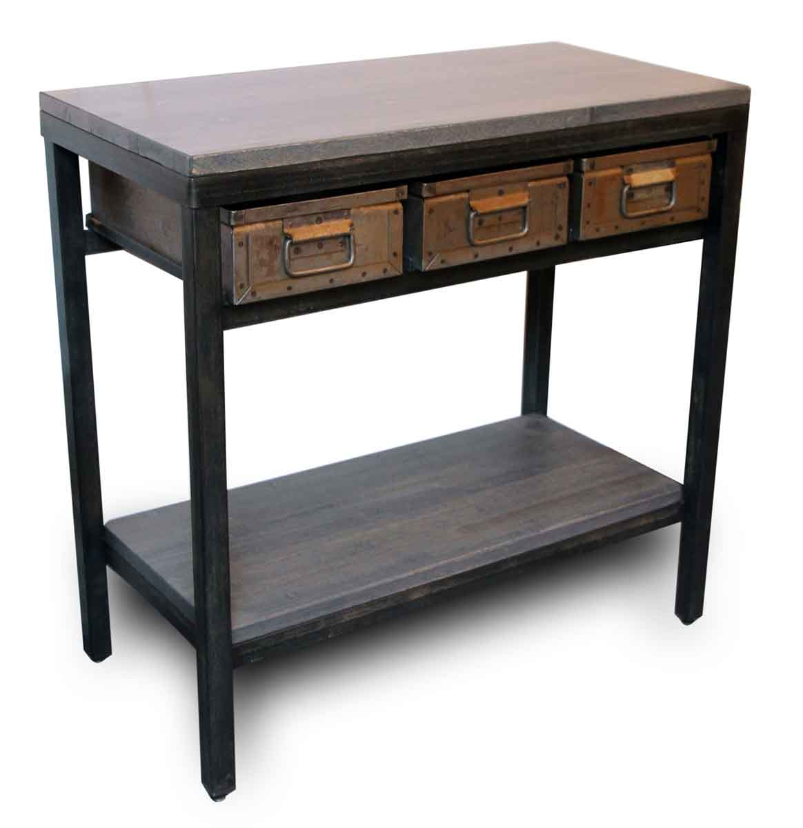 Console With Drawers Console Table With Three Metal Drawers Olde Good Things