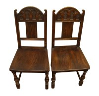 Pair of Gothic Wooden Chairs | Olde Good Things