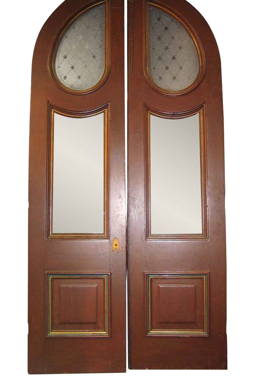 Entrance Doors Large Pair Of Arched Victorian Entrance Doors