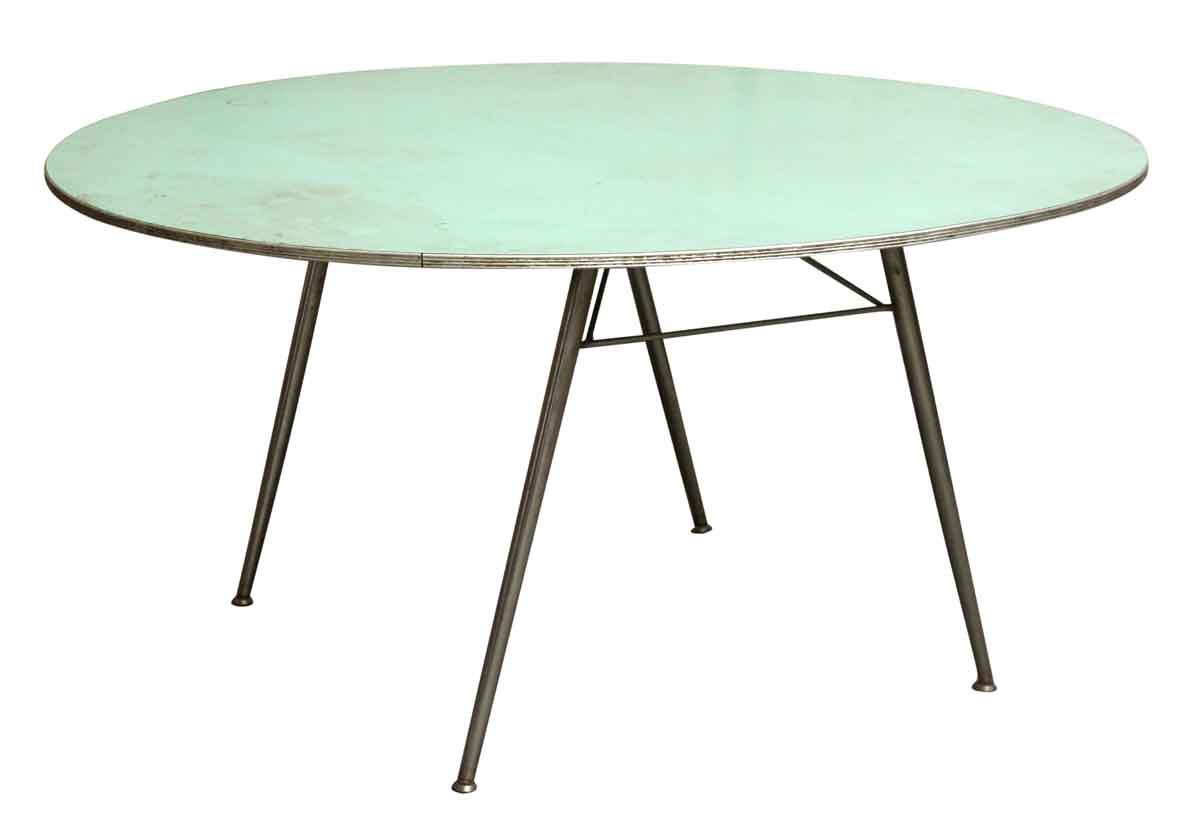 Fold Up Kitchen Table Blue Round Fold Up Table Olde Good Things