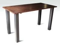 Industrial Flooring Bar Height Table with Metal Square ...