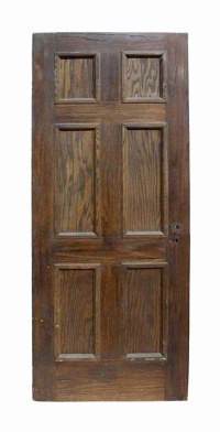 Antique Six Panel Oak Wooden Door | Olde Good Things