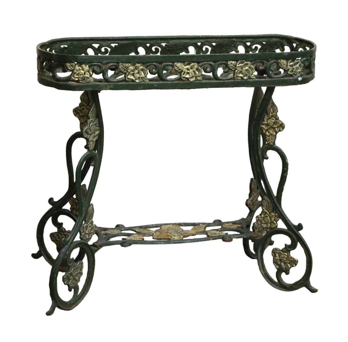 Green Metal Plant Stand Wrought Iron Green Decorative Plant Stand Olde Good Things