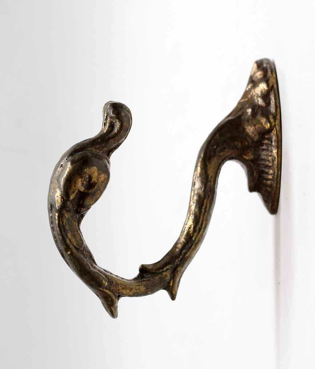 Antique Bronze Curtain Tie Backs Salvaged Waldorf Bronze Swan Curtain Tie Back Hook