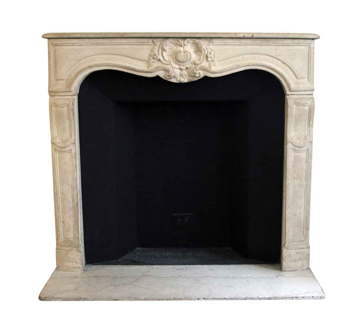 Fireplace Mantel Parts Salvaged Waldorf Limestone Louis Xv French Fireplace Mantel