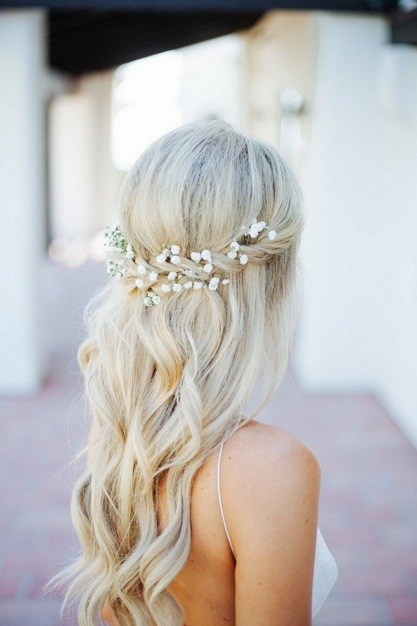 Boho Look 18 Trending Wedding Hairstyles With Flowers - Oh Best Day Ever