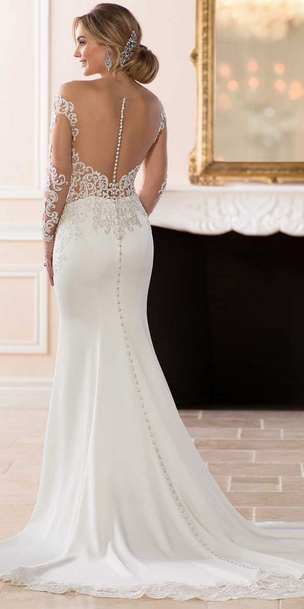 Shoulder Dress Stella York Wedding Dresses 2018 Collection - Oh Best Day Ever