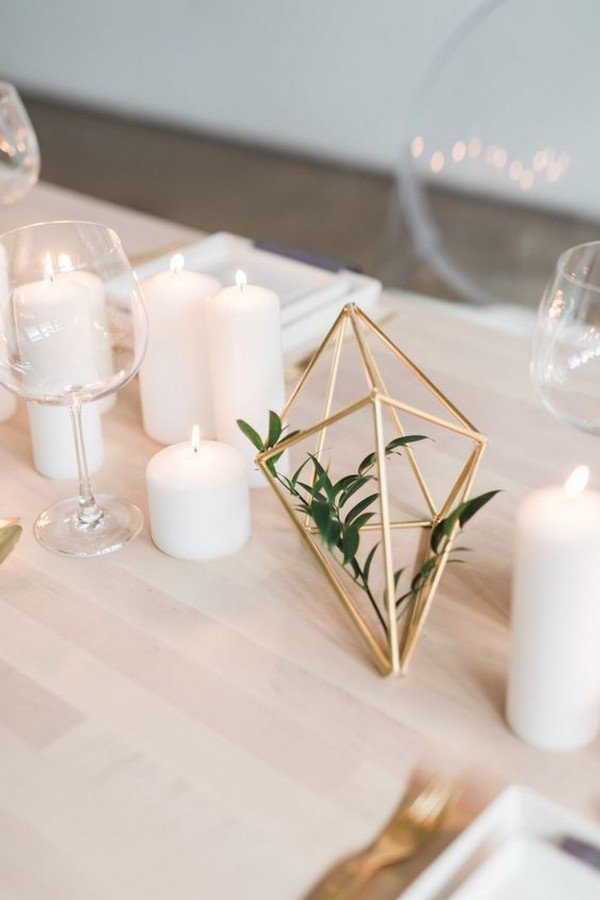 Elegant Wedding Reception Ideas 40+ Chic Geometric Wedding Ideas For 2018 Trends - Page 2