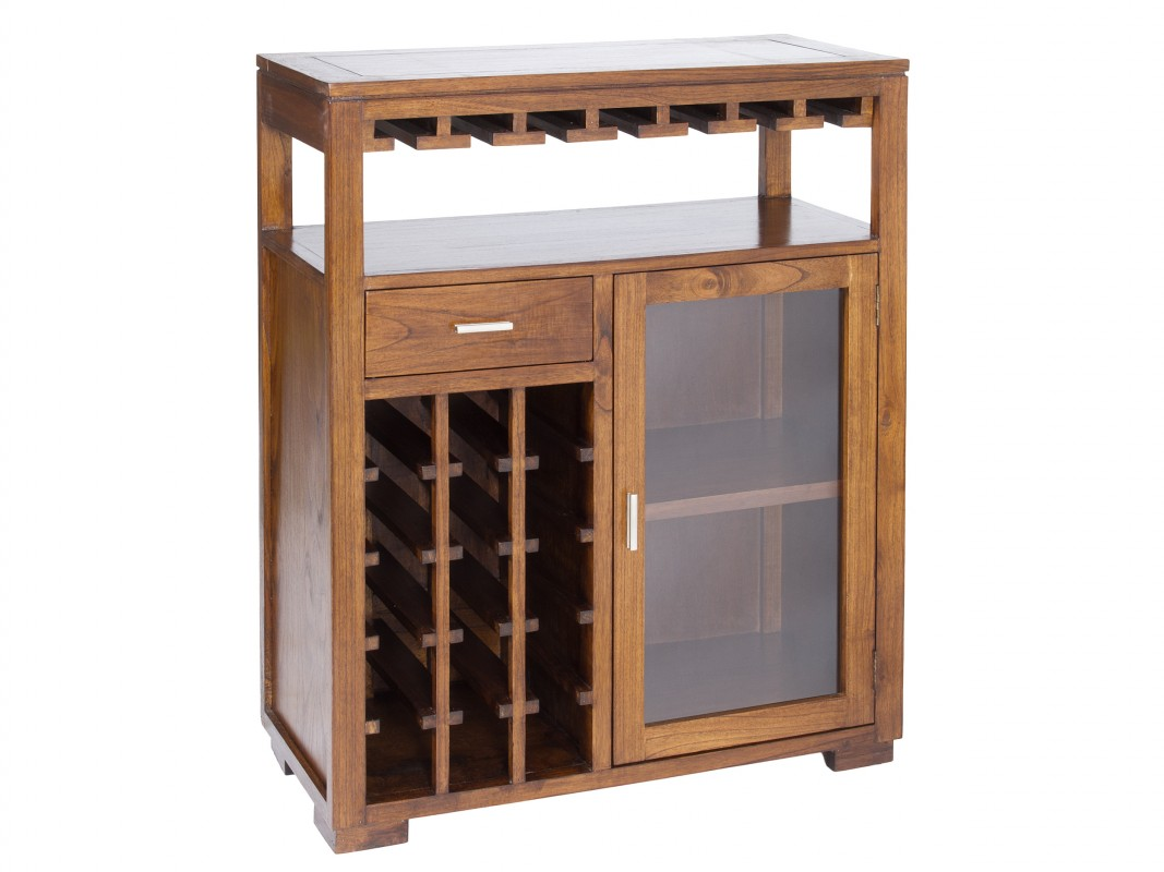 Muebles De Madera Bar Mueble Bar De Madera Color Nogal Forest