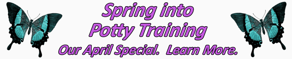 spring into potty training banner