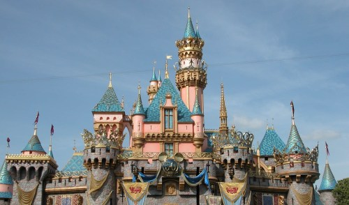 disneyland toddler castle photo