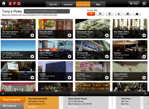 Travel Channel App for iPad