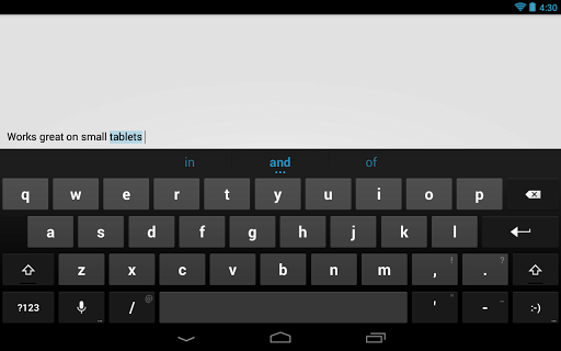 Google Keyboard Screenshot